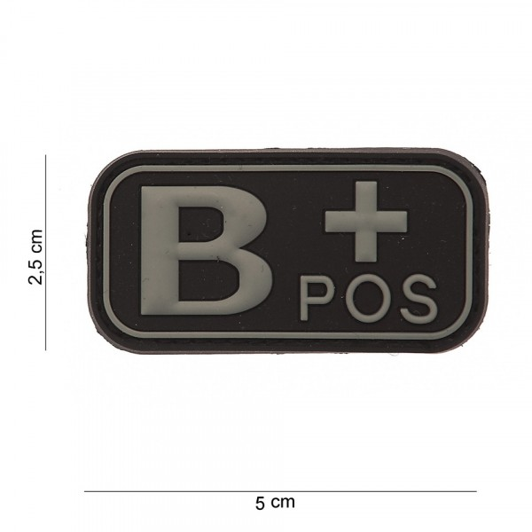 B+ Positive PVC Embleem