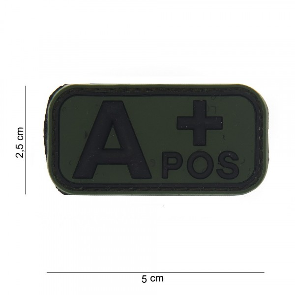 A+ Positive PVC Embleem