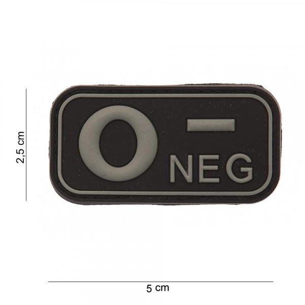 O- Negative PVC Embleem