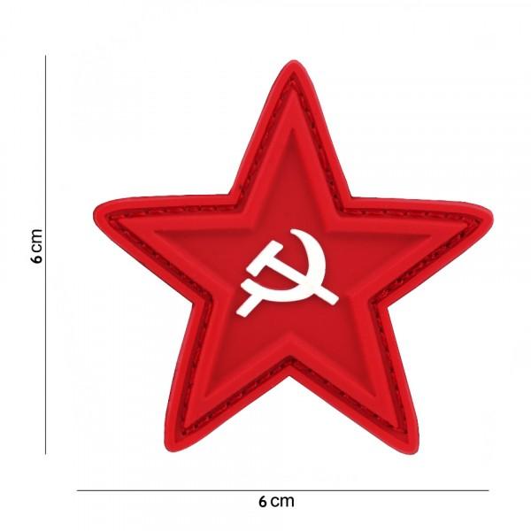 Rode Ster PVC Embleem met Klitteband
