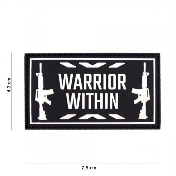 Warrior Within PVC Embleem met Klitteband