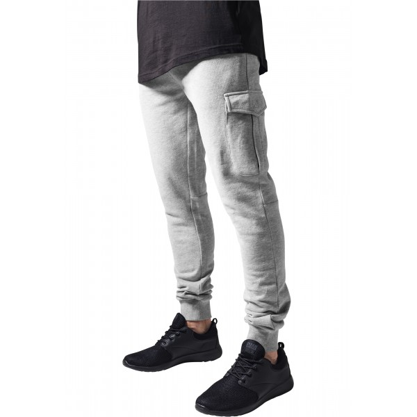 Fitted Cargo Sweatpants Grey