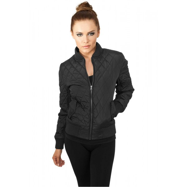 URBAN CLASSICS DIAMOND WOMEN JACKET BLACK