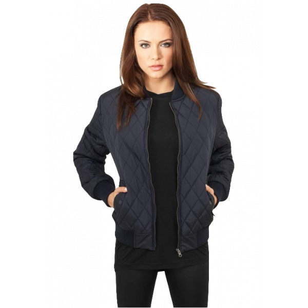 URBAN CLASSICS DIAMOND WOMEN JACKET NAVY