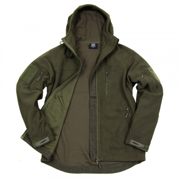 Hexagon fleece vest Olive