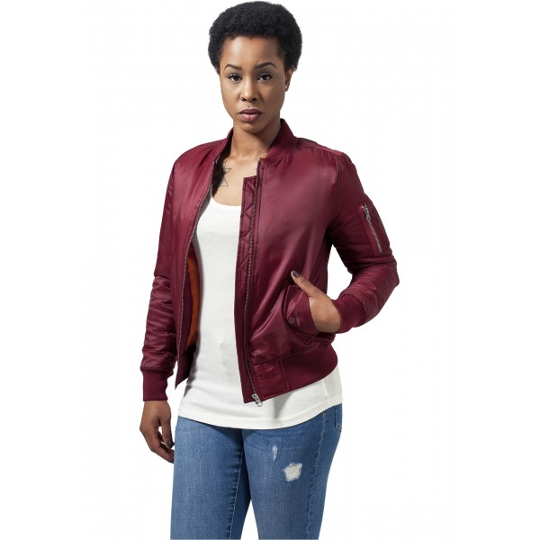 Urban Classics Ladies Bomber Burgundy